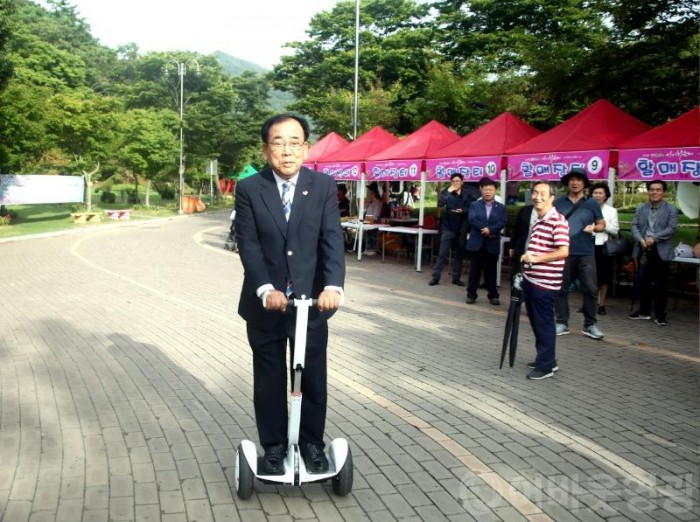 e-모빌리티, 불갑산 상사화 축제장을 달리다-1.JPG