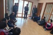 백수읍장, 경로당 방문으로 첫 읍정업무 시작