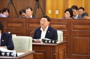 김병원의원 자유발언 '영농대행사업 도입', '노인복합주거타운'제안