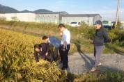 김준성 영광군수, 태풍 피해현장 위로 방문