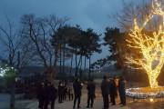 군남면 지내들 옹기돌탑공원 트리 점등식