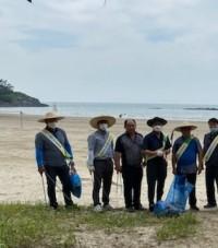 홍농읍, 가마미해수욕장 환경정화 활동 펼쳐